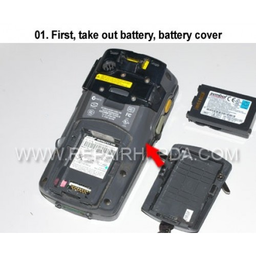 1. First, take out battery, battery cover