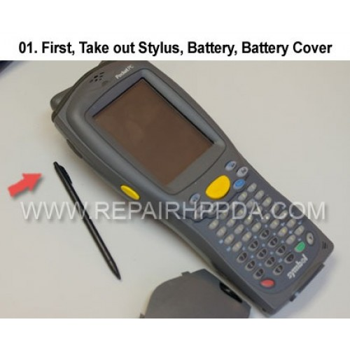 1. First, Take out Stylus, Battery, Battery Cover
