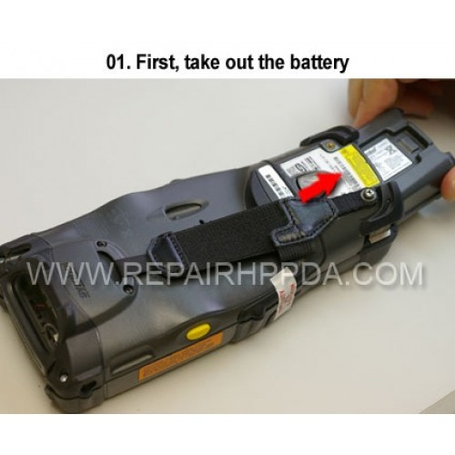 1. First, take out the battery