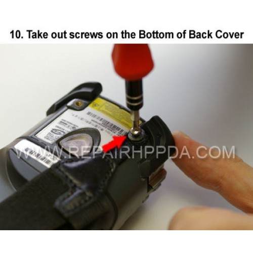 10. Take out screws on the Bottom of Back Cover