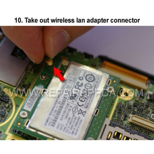 10. Take out wireless lan adapter connector