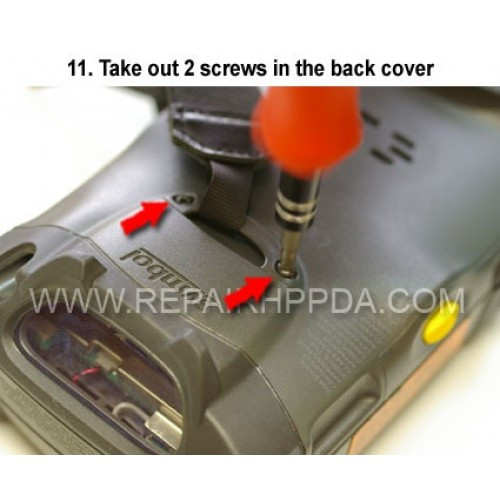 11. Take out 2 screws in the back cover