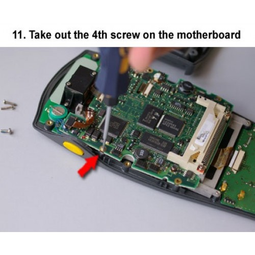 11. Take out the 4th screw on the motherboard