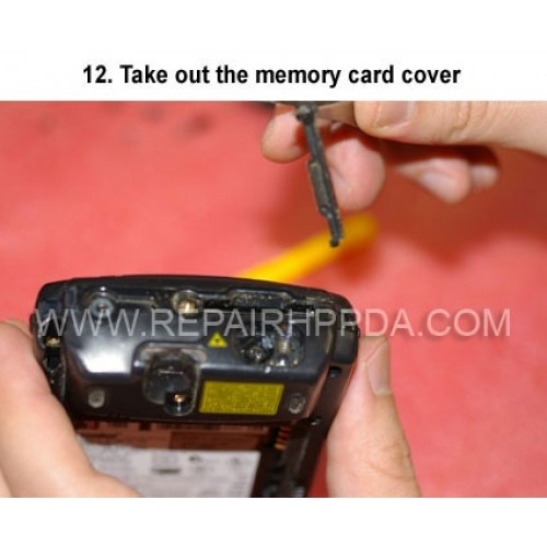 12. Take out the memory card cover
