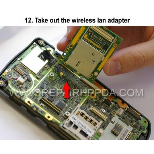 12. Take out the wireless lan adapter