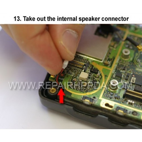 13. Take out the internal speaker connector