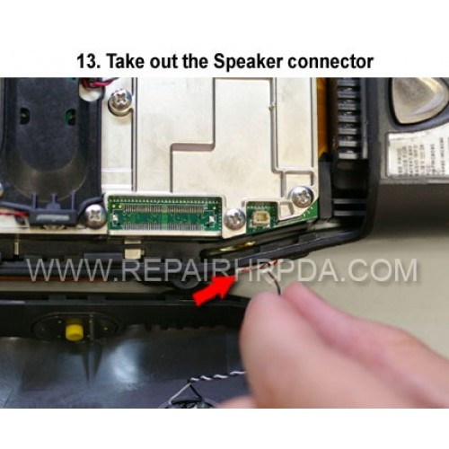13. Take out the Speaker connector