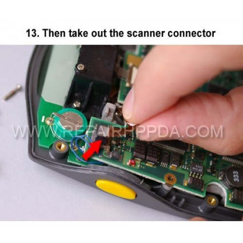 13. Then take out the scanner connector