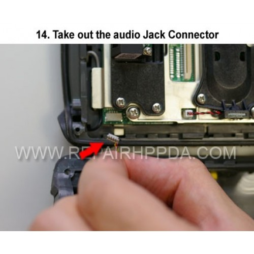14. Take out the audio Jack Connector