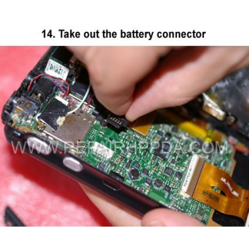 14. Take out the battery connector