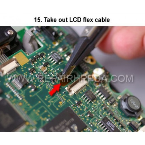 15. Take out LCD flex cable