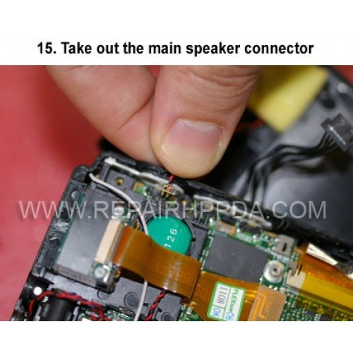 15. Take out the main speaker connector