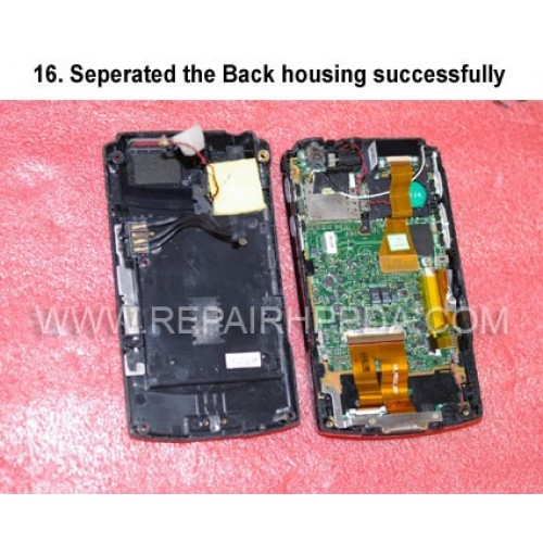 16. Seperated the Back housing successfully