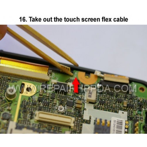 16. Take out the touch screen flex cable