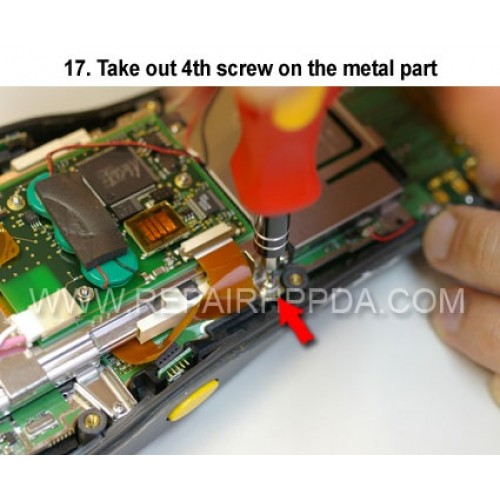 17. Take out 4th screw on the metal part