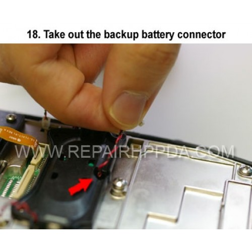 18. Take out the backup battery connector