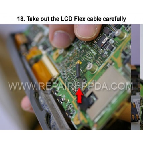 18. Take out the LCD Flex cable carefully