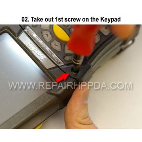 2. Take out 1st screw on the Keypad