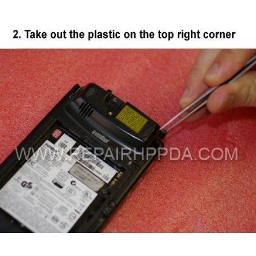 2. Take out the plastic on the top right corner