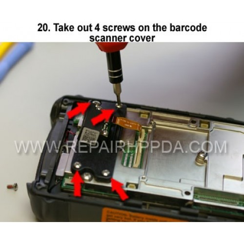 20. Take out 4 screws on the barcode scanner cover