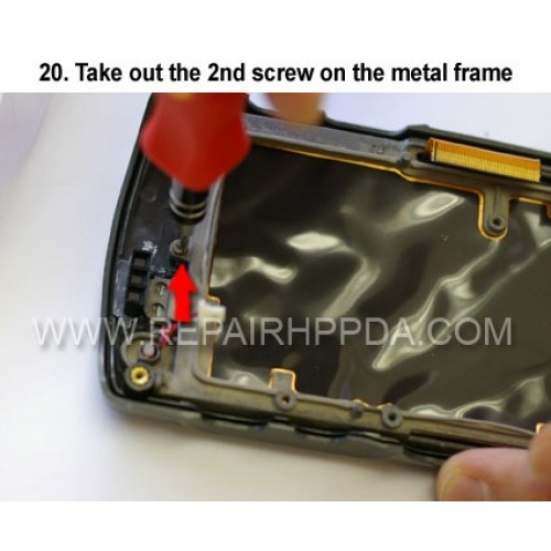 20. Take out the 2nd screw on the metal frame