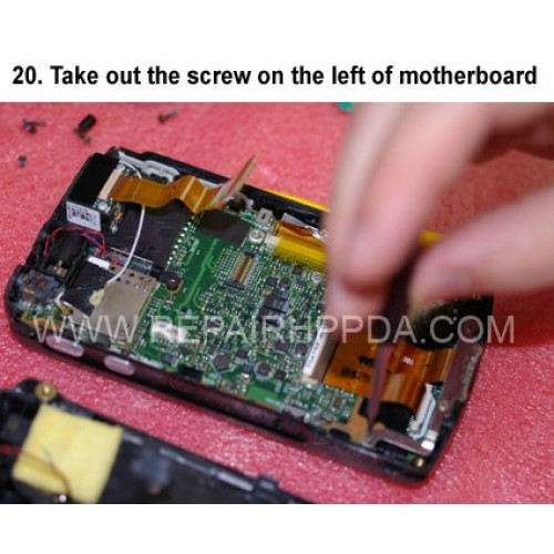 20. Take out the screw on the left of motherboard