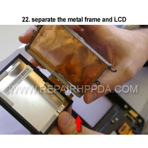 22. separate the metal frame and LCD
