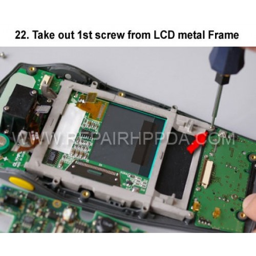 22. Take out 1st screw from LCD metal Frame