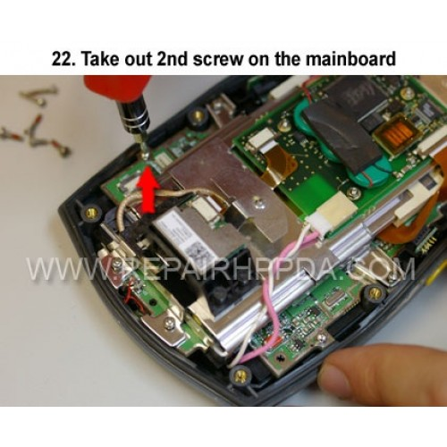 22. Take out 2nd screw on the mainboard
