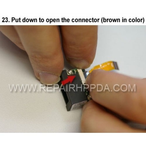 23. Put down to open the connector (brown in color)