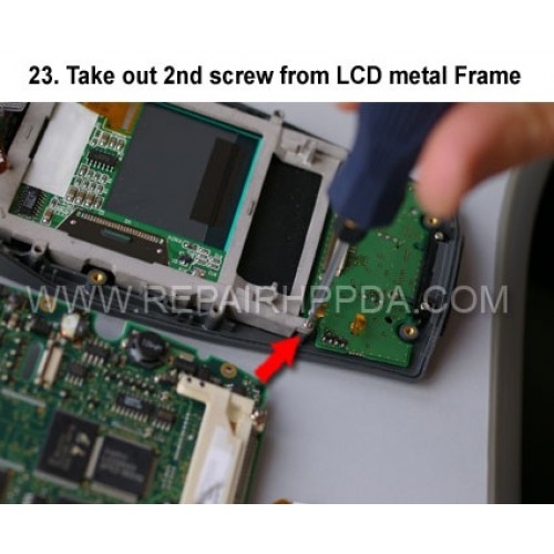23. Take out 2nd screw from LCD metal Frame
