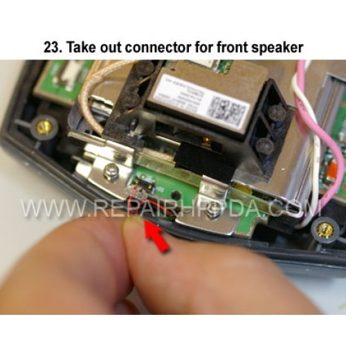 23. Take out connector for front speaker