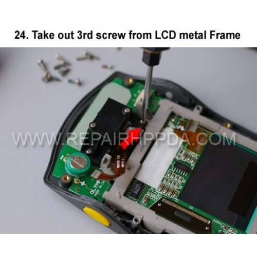 24. Take out 3rd screw from LCD metal Frame