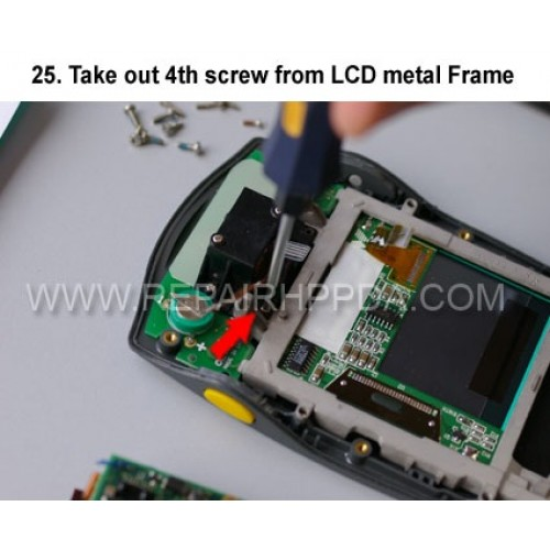 25. Take out 4th screw from LCD metal Frame