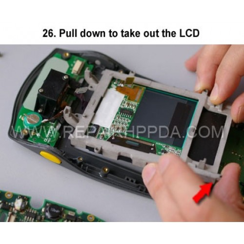 26. Pull down to take out the LCD