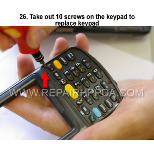 26. Take out 10 screws on the keypad to replace keypad