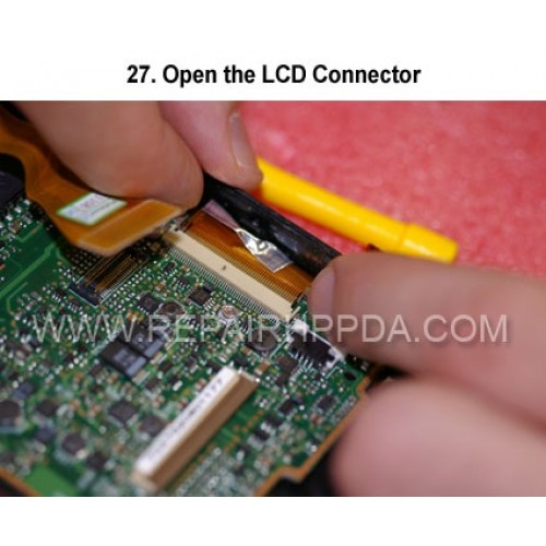 27. Open the LCD Connector