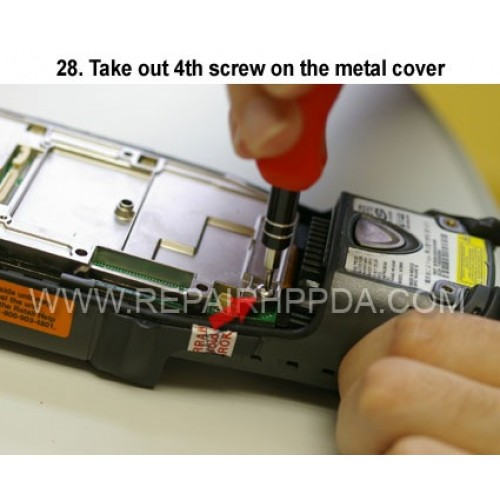 28. Take out 4th screw on the metal cover