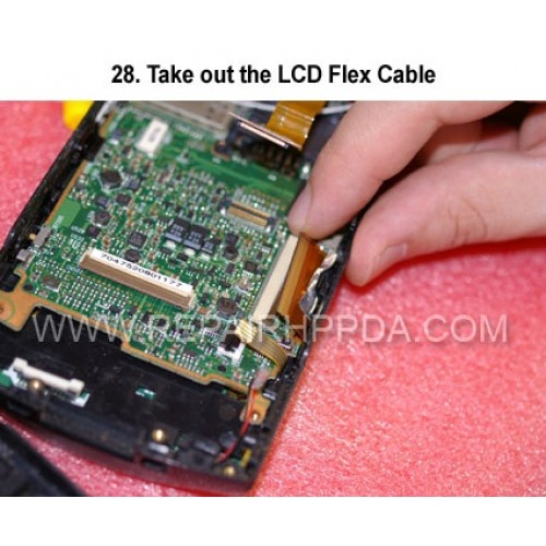 28. Take out the LCD Flex Cable
