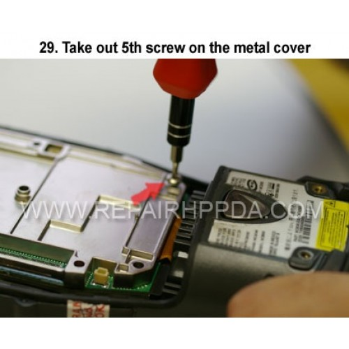 29. Take out 5th screw on the metal cover