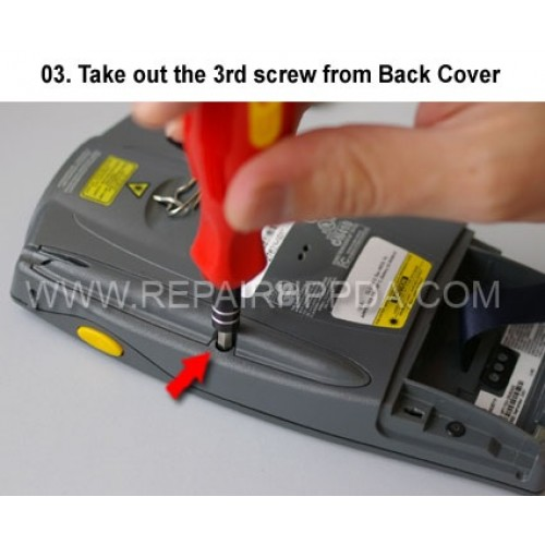 3. Take out the 3rd screw from Back Cover