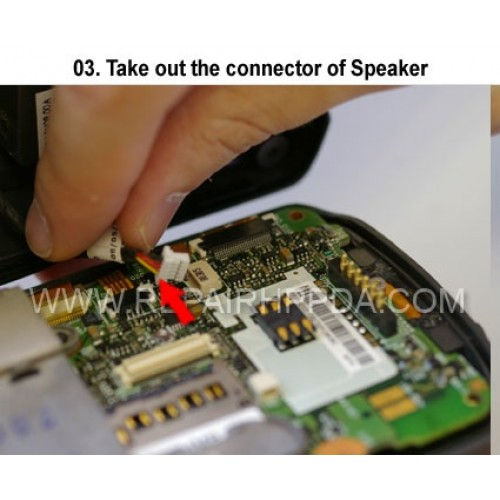 3 Take out the connector of Speaker