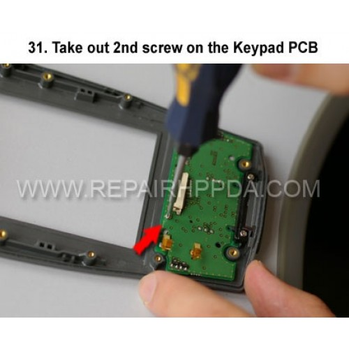 31. Take out 2nd screw on the Keypad PCB