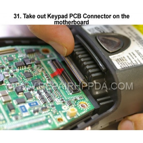 31. Take out Keypad PCB Connector on the motherboard