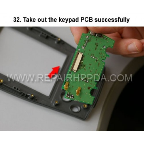32. Take out the keypad PCB successfully