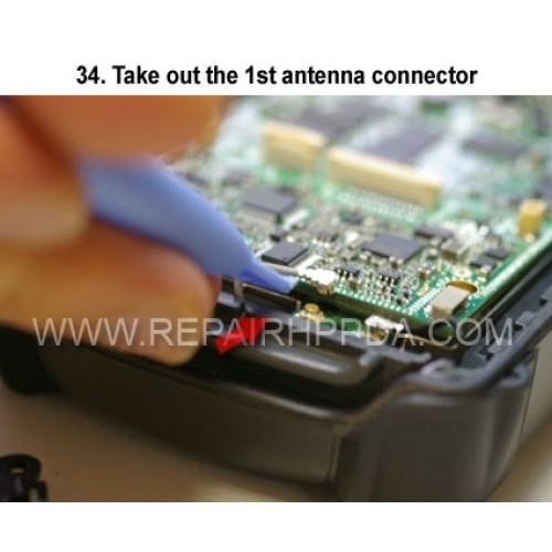 34. Take out the 1st antenna connector
