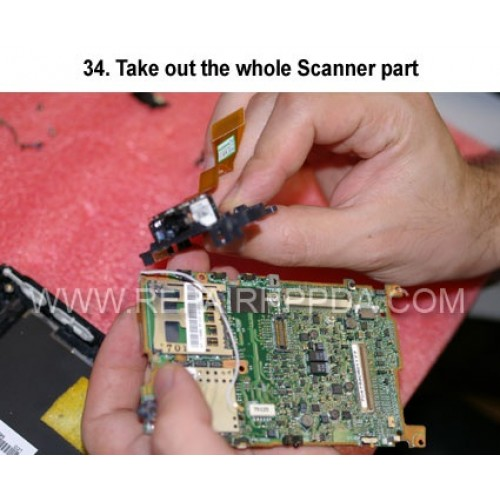34. Take out the whole Scanner part