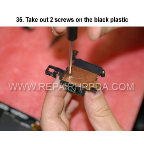 35. Take out 2 screws on the black plastic