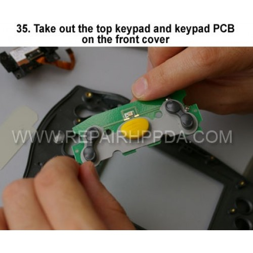 35. Take out the top keypad and keypad PCB on the front cover