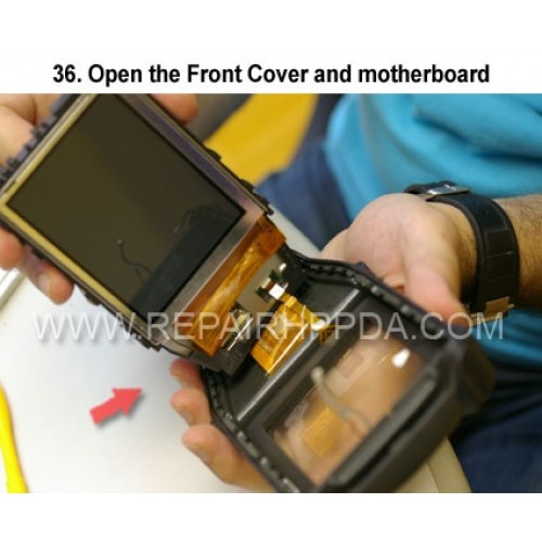 36. Open the Front Cover and motherboard